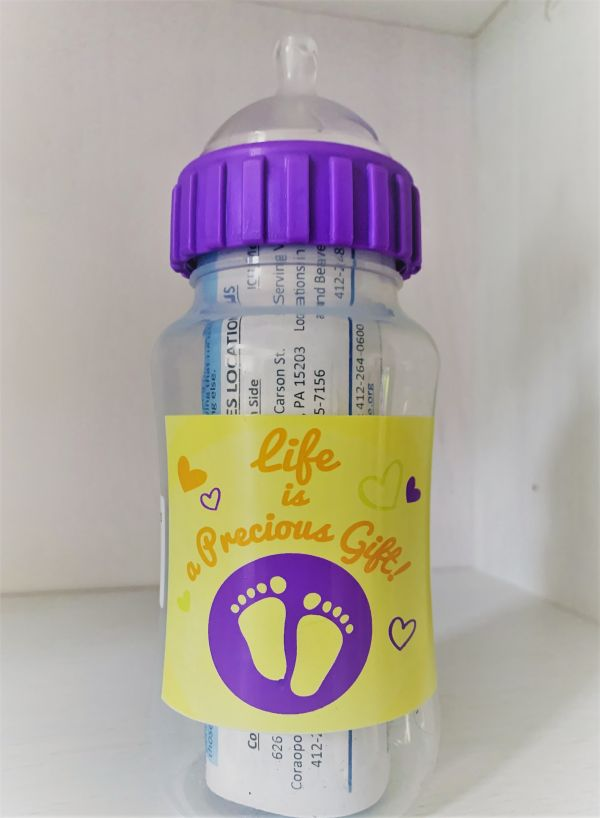 Baby Bottle Fundraiser for Choices Pregnancy Services