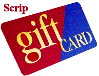 "SCRIP cards are ""gift"" cards from retailers of all varieties which can be used not only as gifts, but also for your everyday expenses."