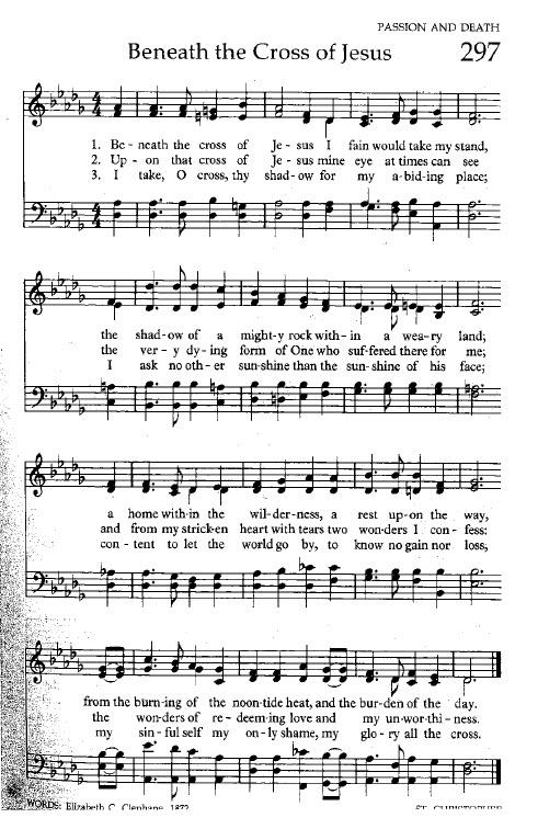 Hymn 297 Beneath the Cross of Jesus
